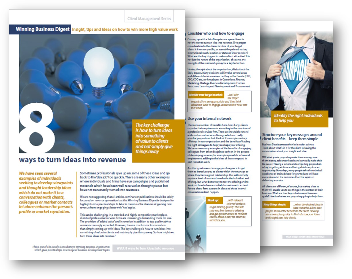 Winning Business Digests - The Results Consultancy