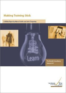 Making Training Stick White Paper cover